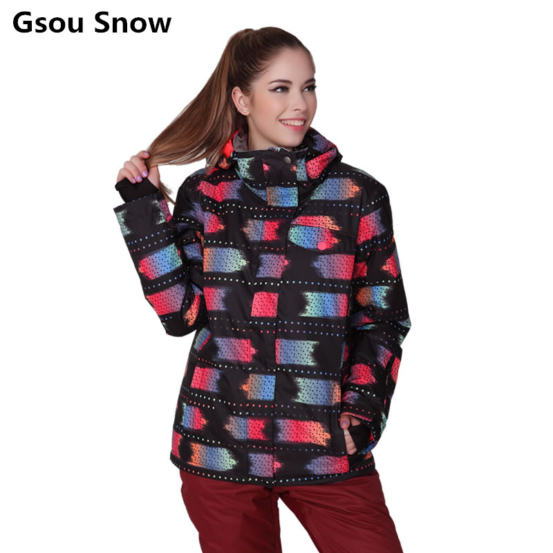 New Gsou snowboard jacket womens snow suits winter sport veste ski femme skiwear female jacket keep warm clothes 2017 gsou ski jacket women snowboard winter snow jacket skiwear ski jas heren clothes esqui warm waterproof