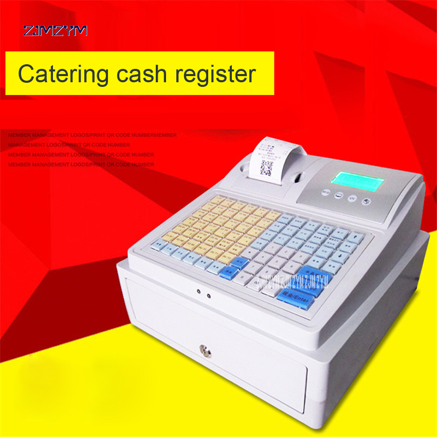 C-50 electronic cash registers cash register POS cash register 8V Multifunctional Catering cash register for supermarket milktea бензиновый генератор dde dpg2551