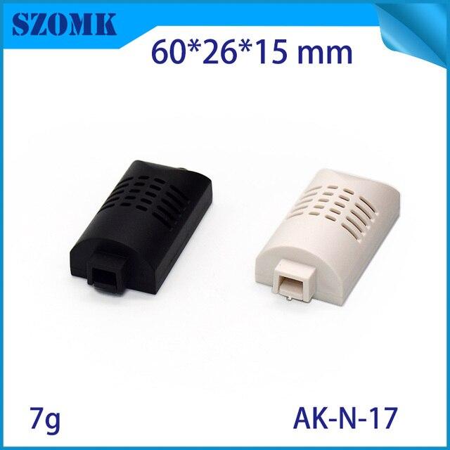 """50 pieces a lot  plastic temprature sensor / humidity sensor  enclosure  THE 2  61x26x17mm   2.40""""x1.02""""x0.67"""""""