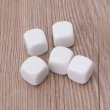 5pcs 20mm Blank Dice Acrylic White Dice Kid DIY Toy Write Painting Graffiti Family Games Accessories(China)