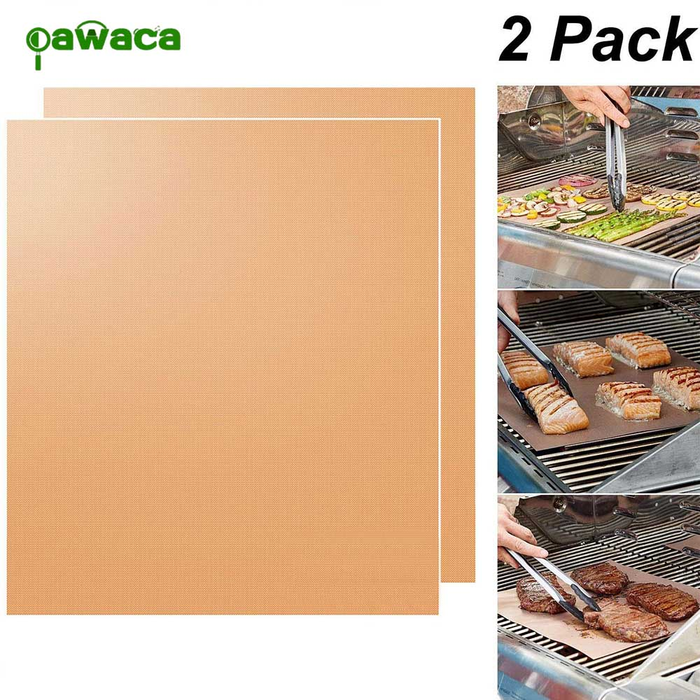 BBQ high temperature can be repeatedly used to clean non-stick outdoor barbecue mat family gathering party