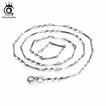 OSRA JEWELS Wholesale Lead & Nickel Free Jewelry Water-Wave Chains For Pendant Silver Color Chain 100% Allergy Free OC05(China)