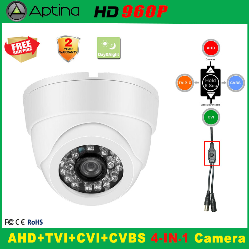 960P Indoor Security AHD TVI CVI Analog CCTV Camera 5*24PCS IR LED Home Video HD Night Vision CMOS Mini Plastic Dome cameras hd 720p 1080p dome ahd camera 1mp 2mp cmos security video hd analog camera night vision ir 20m cctv camera for ahd dvr