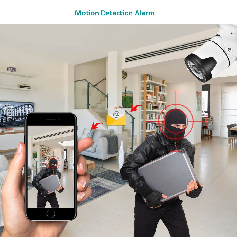 "Image 3 - AZISHN H.265+ 4MP 2560*1440 Metal IP Camera XM530AI+1/2.7"" SC5239 sensor 36IR Onvif P2P Motion Detection RTSP CCTV Outdoor XMEye-in Surveillance Cameras from Security & Protection"