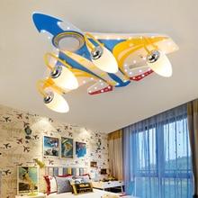 Modern airplane ceiling lights creative LED wood lamp Bluetooth music for kid room children bedroom art deco light