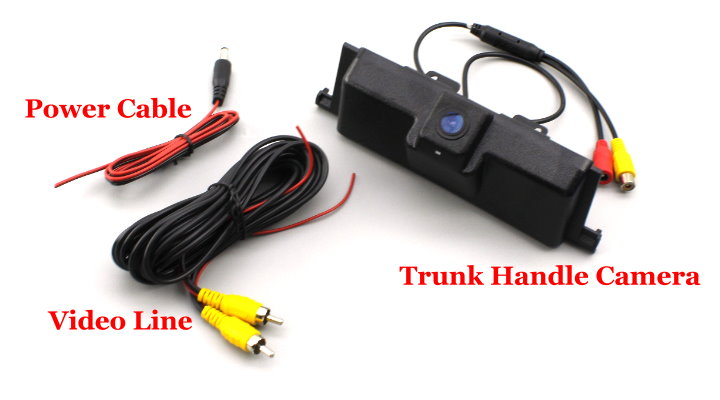Liislee Car Rearview Reverse Parking Camera For Ford Edge 2015~2017 Trunk Handle  HD CCD Rear View Camera  Parking line