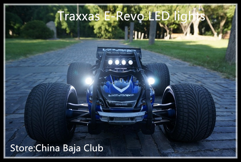 (1:10) E-Revo Traxxas Lamp Headlamps Taillight Set 12pcs Include Tail light bracket and Remote control switch