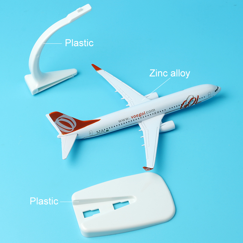 Brazil GOL Airlines Boeing 737 16cm Decoration Airplane Models Child Birthday Gift Plane Model W Stand Aircraft Gift