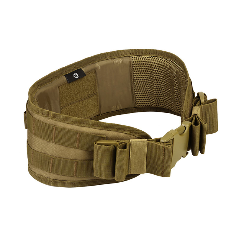 Men Army Military Camouflage MOLLE Girdle Tactical Outer Waist Padded Belt Multi-Use Equipment Combat Wide Belts цена 2017