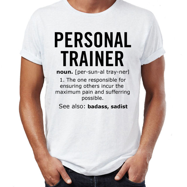 57f3627e 2017 new summer fashion o-neck Personal Trainer Noun Job Mens Funny T Shirt  Christmas Gift T-Shirt Humour free shipping