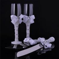 1 пара подарочных очков для свадебной вечеринки с жемчугом и шампанским, набор перламутровых бокалов, свадебное вино, чашка + жемчужный нож д...