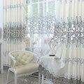 2017 nueva Europa Bordado de tul Ventana de Cortinas Para la sala/Dormitorio Apagón Cortinas Ventana de Tratamiento/cortinas Decoración Del Hogar