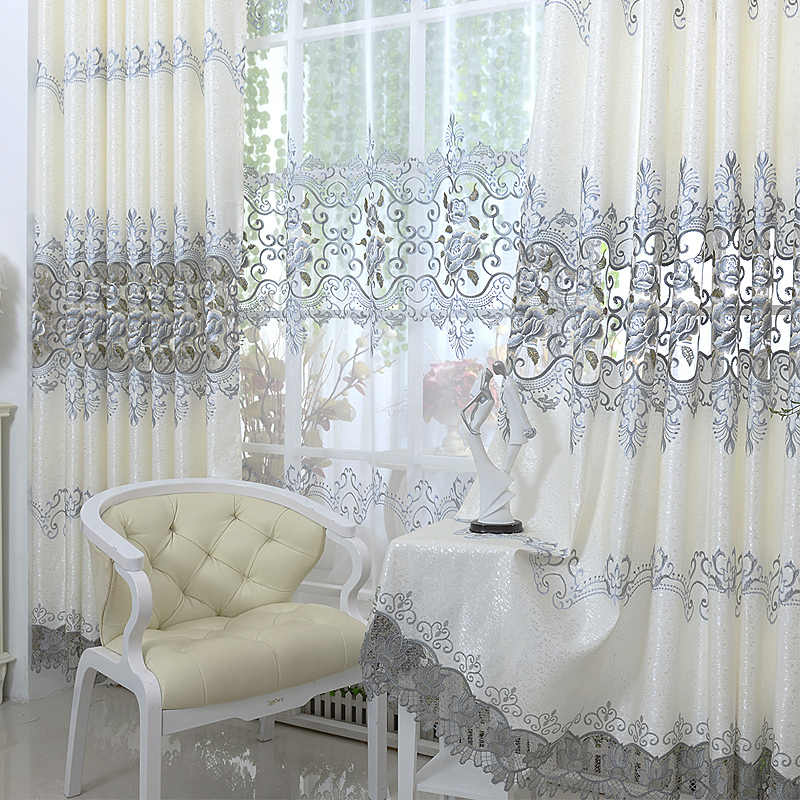 Rollos Gardinen Vorhange Chenille Embroidery Curtain Fabric Semi Finished Voile Tulle Window Drape Mobel Wohnen Elin Pens Ac Id