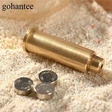 Gohantee caça boresight cal.38 cartucho de laser furo sight avistamento ponto vermelho laser boresight para rifles escopo espingardas