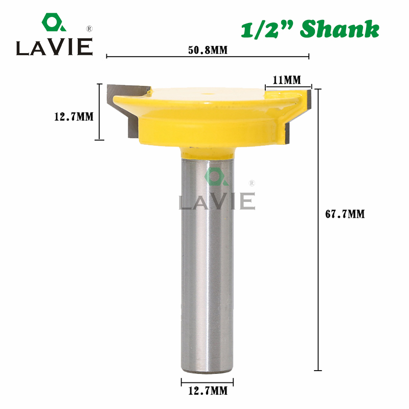Image 2 - LAVIE 12mm 1/2 Straight Drawer Molding Router Bit Drawer Lock Tenon Knife Plug Wood Milling Cutter Door Woodworking Tool MC03005-in Milling Cutter from Tools
