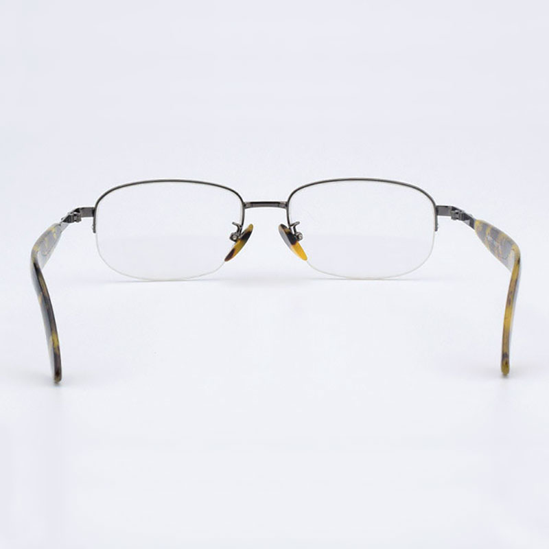 Image 4 - Half Rimless Optical Glasses Frame Acetate Temple Alloy Front Rim Frame Glasses Frame Prescription Semi Rimless Spectacles-in Men's Eyewear Frames from Apparel Accessories