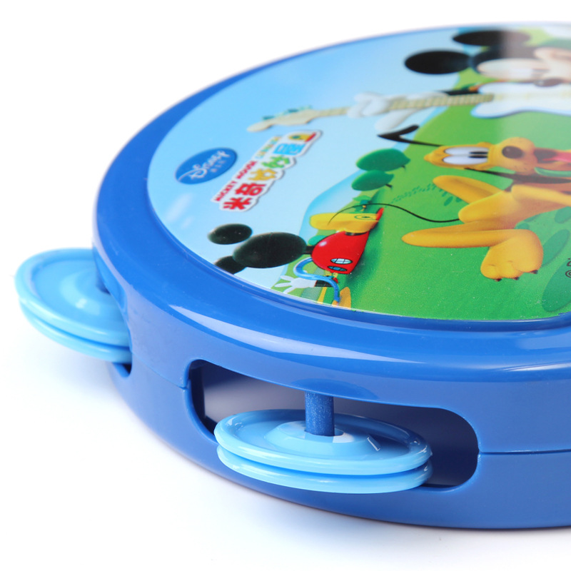 Genuine Disney childrens musical toy For children one-sided drummer rattle baby musical gifts