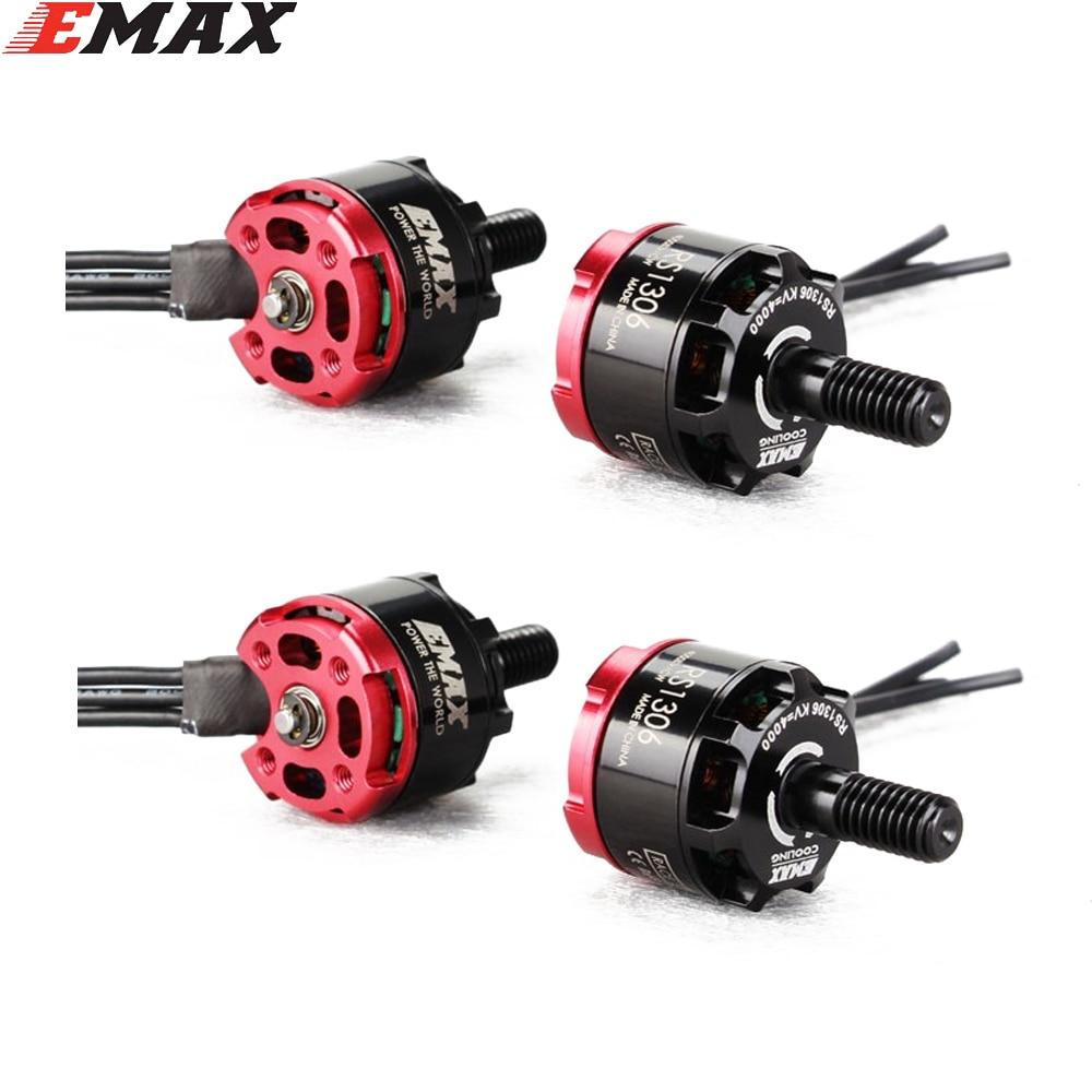 4 set/lot Emax RS1306 3300KV/4000kv CW y CCW Motor sin escobillas para FPV Racing QAV130 QAV150 2CW 2CCW