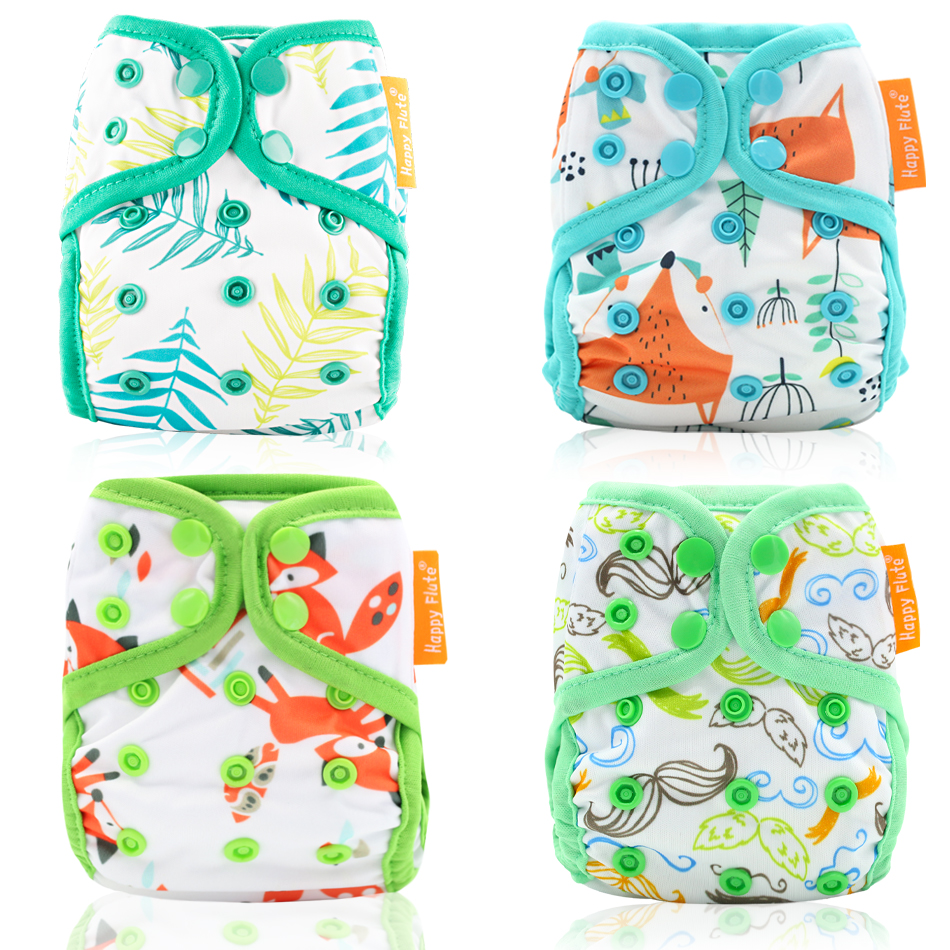 Happyflute NewbornDiaperCover,Tiny Diaper Cover, Closure Diaper Cover Colorful Binding Pack Of 10