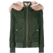 RR Green Real Rabbit Fox Fur Lining Parkas Women Winter Real Fox Raccoon Fur Collar Hooded Coat Woman Detachable Warm Jacket