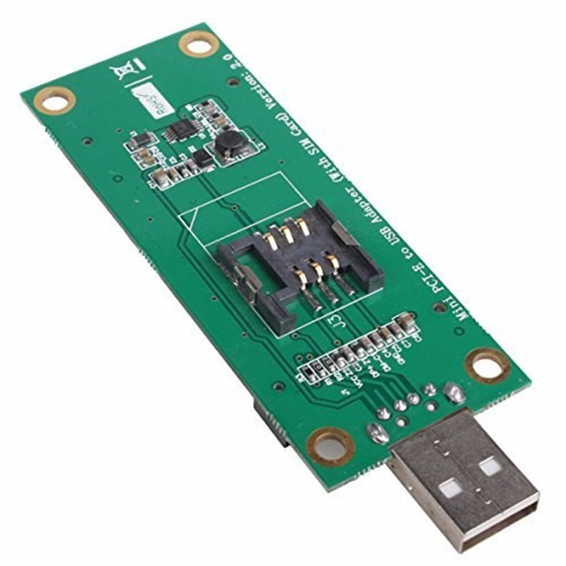 Free shipping Mini PCI-Express pcie pci express PCI-E Wireless WWAN to USB Adapter Card with SIM Card Slot Module Testing Tools ремень поясной step by step touch waist strap серый 119886