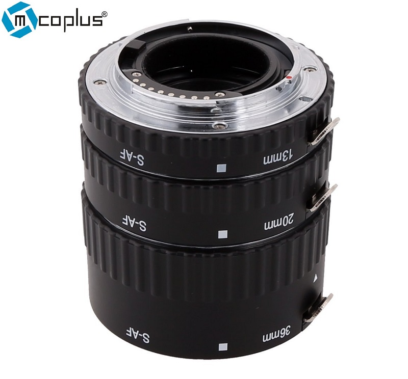 Mcoplus S-AF-A Extension Tube Metal Auto Focus AF as Meike Macro Ring Set for Sony A77 A200 A300 A350 A550 A500 A580 A850 A900 meike s af b auto focus macro extension tube ring set adapter for sony alpha a7 ii a580 a550 a350 a900 a77 a550 a300