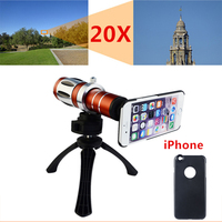 2017 New Mobile Phone Camera Lenses Kit 50X Metal Telescope Telephoto Zoom Lens For iPhone 4 4s 5 5s 6 6s 7 Plus Cases+ Tripod