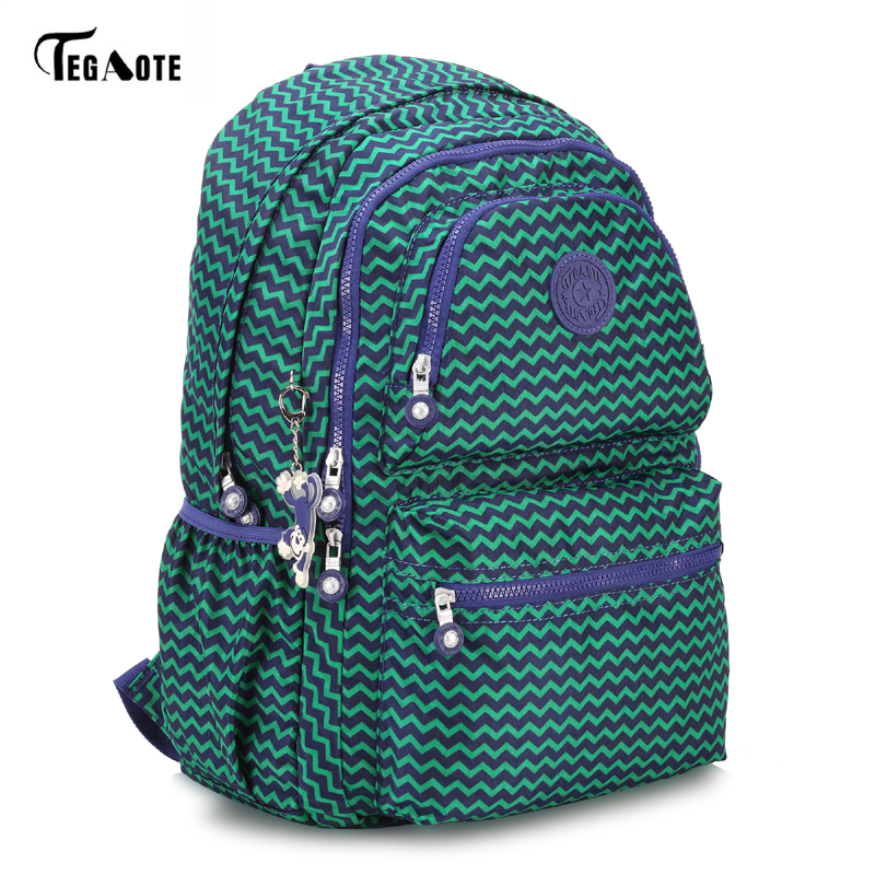 Tegaote Laptop Backpack College Student Large Capacity Computer Backpacks For Teens Nylon Waterproof Bags For Men Women