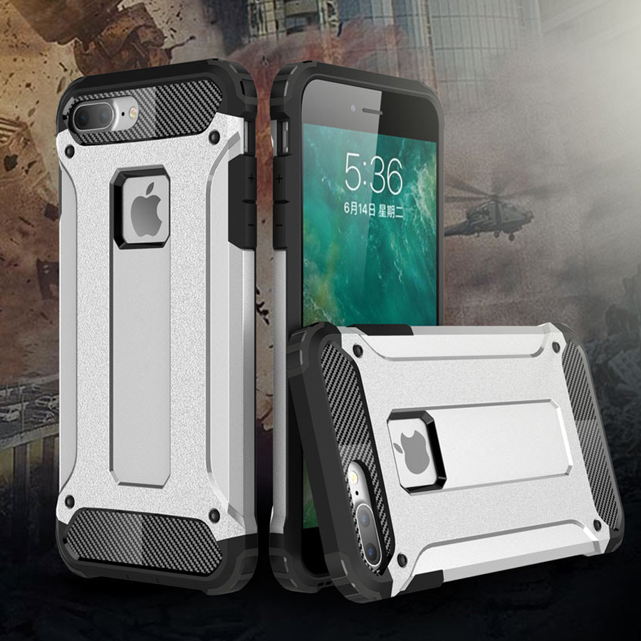 Strong Hybrid Hard Tough Dual Layer Armor Case For Apple iPhone 7 Plus 6S Plus 6S 6 SE 5S 5 Shockproof TPU Plastic Covers Cases 360 degrees