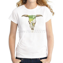 Women Summer Novelty Design T shirt Fashion Cow Map of West Printed Tops Hot Sales Tee Shirts