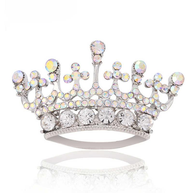 Queen Corona Spilla di Modo Multi Colore Strass Corpetto Spille Per Le Donne Ragazze Regalo Camicette Cappotto Ornamenti di Modo Spille Badge