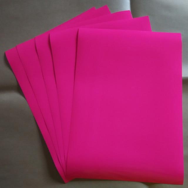 A45piecs Neon Pink Color Pu Heat Transfer Vinyl Cuttable Plotter
