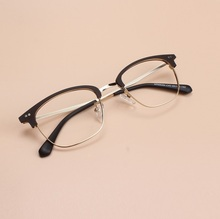 49-22-140 The new high quality  comfortable material TR90 alloy eyeglasses frame myopic half square frame female students 88084