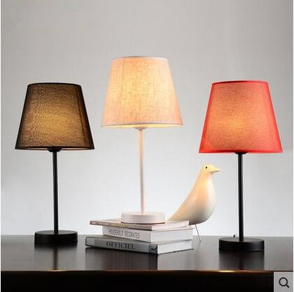ФОТО Nordic Fabric LED Desk Lamp Personality Modern Table Lamp Simple Fixtures For Home Lightings Study Room Cafe Luminaria De Mesa