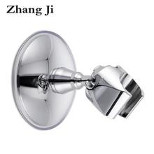 ZhangJi Elegant Design Plastic Bathroom Showerhead Holder Chromeplate Abs Suction Cup ABS Handheld Shower Holder Shower Bracket