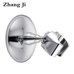 ZhangJi Elegant Design Plastic Bathroom Showerhead Holder Chromeplate Abs Suction Cup ABS Handheld Shower Holder Shower Bracket