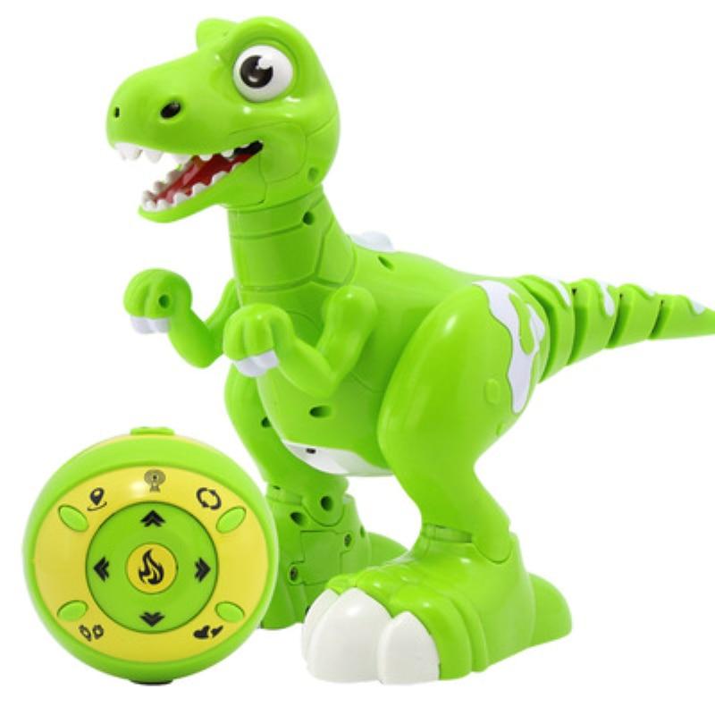 Niños regalos baile y música inteliget seguir RC caminar dinosaurio juguetes Jurásico tyrannosaurus Rex RC Robot con pulverización - 5