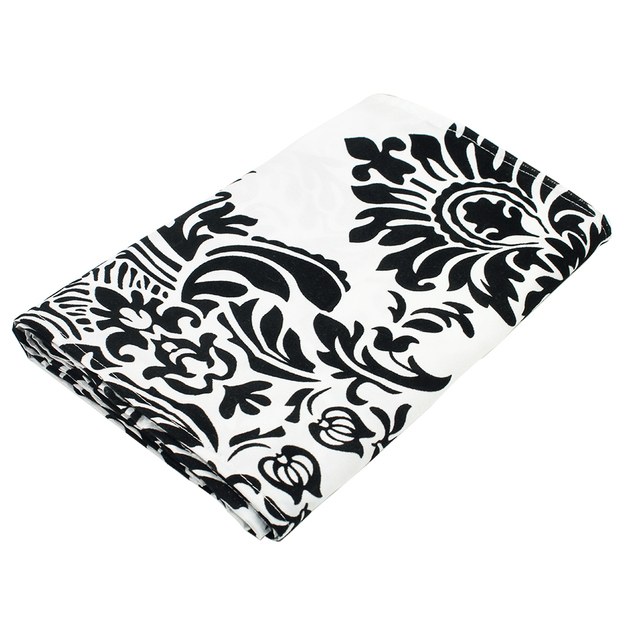 black and white flocking damasks modern table runner 30x275cm for wedding hotel party banquet tables decoration - Black Hotel Decoration