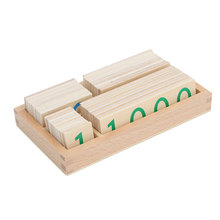 Wooden Montessori Toys Math 1-9000 Number Cards Materials Educational Early Learning Toys For Girls Birthday Gift ME2444 montessori materials blanket three colour three size math toys early educational toys can smarter free shipping