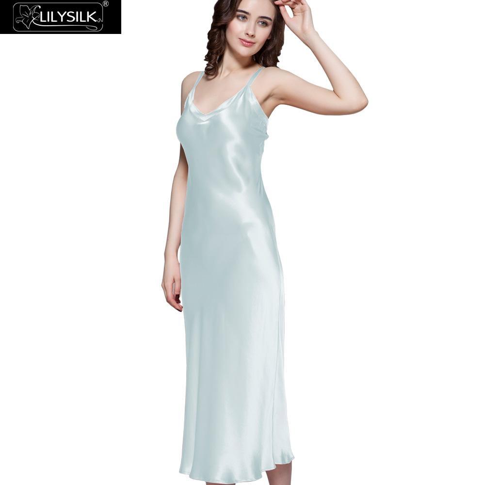 Aliexpress.com : Buy LILYSILK Women's 100% Silk Nightgown ...