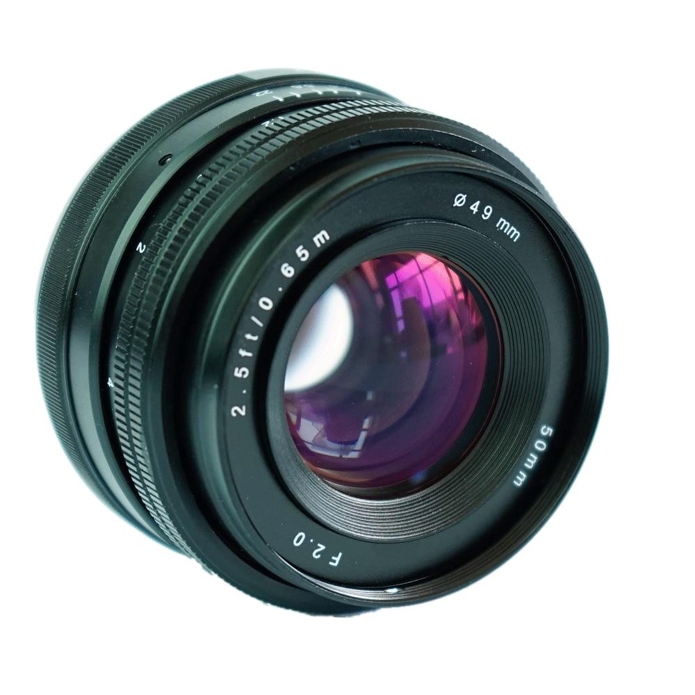 JINTU プロ 50 ミリメートル f/2.0 f22 マニュアルプライムレンズソニー e マウント用 APS C ソニー NEX5 NEX6 NEX7 A5000 A5100 A6000 A6300 A6500 カメラ  グループ上の 家電製品 からの カメラレンズ の中 3
