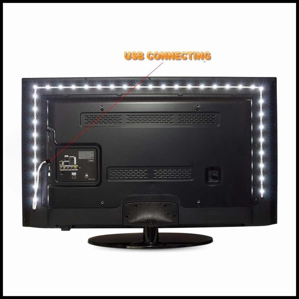 USB Powered 5 V RGB LED Strip Lampu 60 LED/M 3528 SMD Tidak Tahan Air Tape untuk TV pencahayaan Latar Belakang dengan Remote Controller