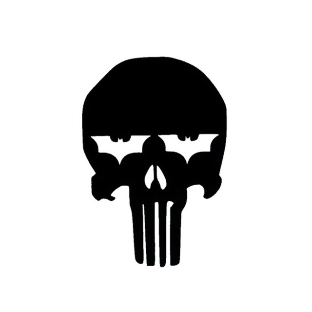 10 515cm punisher batman the dark knight car sticker skull personalized car stickers and decals