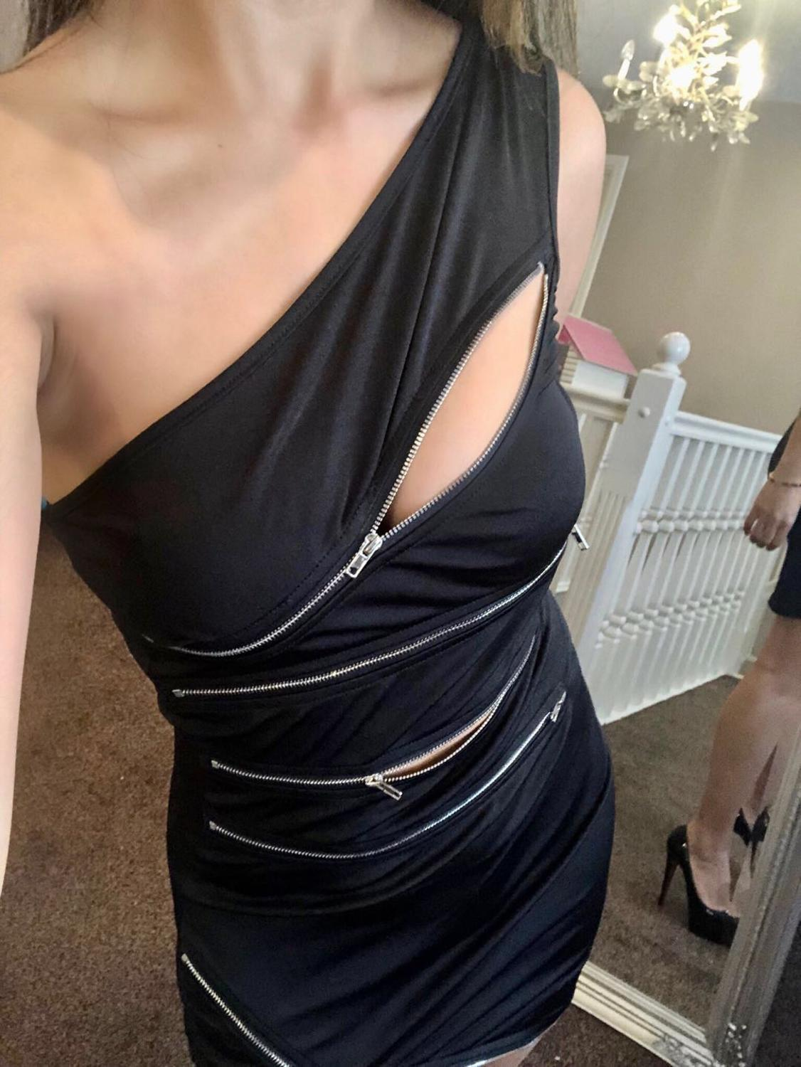 Sexy one shoulder zipper splice Hole Summer Dress women fashion black Night club party clothes bodycon Dresses elegan vestidos in Dresses from Women 39 s Clothing