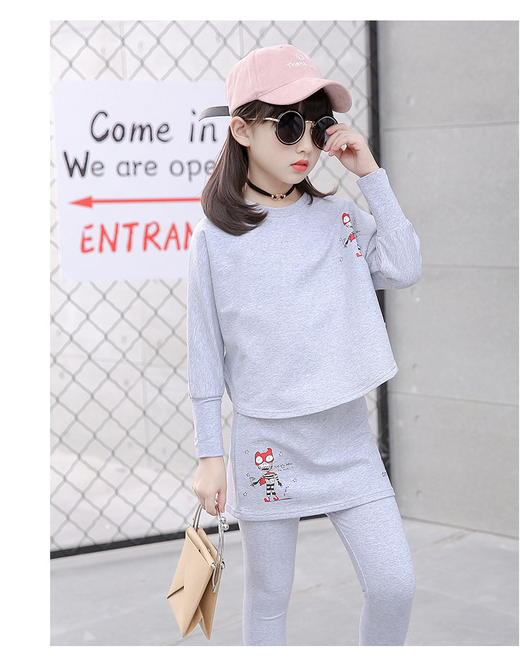 HTB1.kW3SFXXXXXvXXXXq6xXFXXXA - 2017 Baby Clothing Set Autumn Baby Girls Clothes Long Sleeve T-Shirt+Pants 2Pcs Suits Cartoon Children Spring Solid 6-15T O-Neck