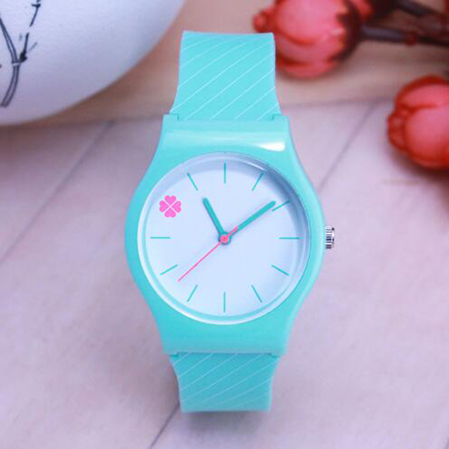 2018 men women couples simple quartz watches students kids cool stripe soft wate