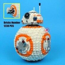 Новые Звездные войны bb8 робот starfighter fit legoings Звездные войны техника цифры Модель Building Block кирпичи игрушки 75187 подарок для мальчиков