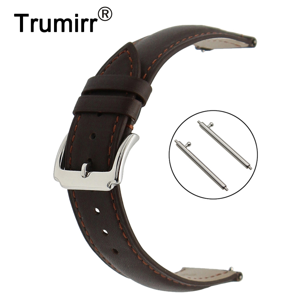 18mm 20mm 22mm First Layer Genuine Leather Watch Band Quick Release Strap for Hamilton Wrist Belt Bracelet Black Brown 18mm 20mm 22mm genuine leather watchband for rolex watch band quick release strap magnetic buckle belt wrist bracelet