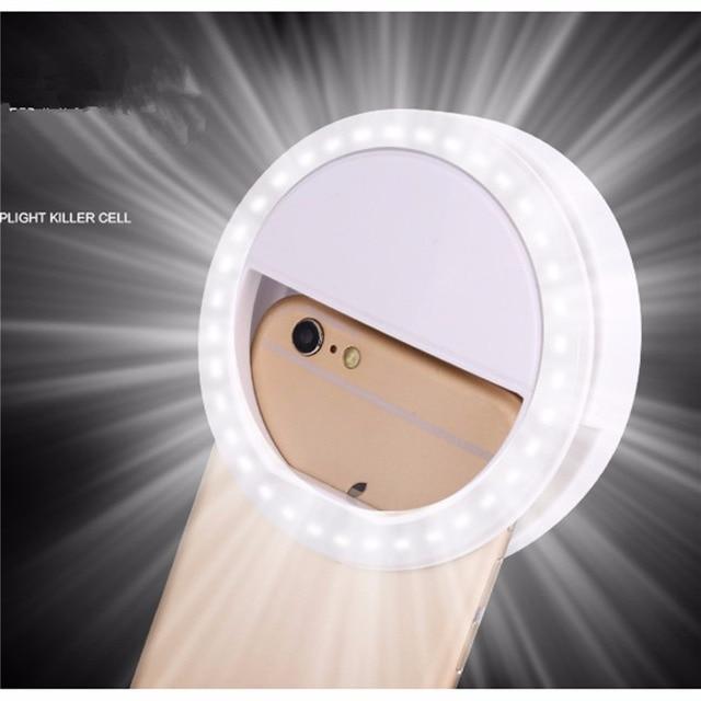 XIXI Makeup Mirror LED Mobile Phone light Artifact Pro Lady 36Pcs LED Beads Photography Light Beauty Tools For Photo fill light 1