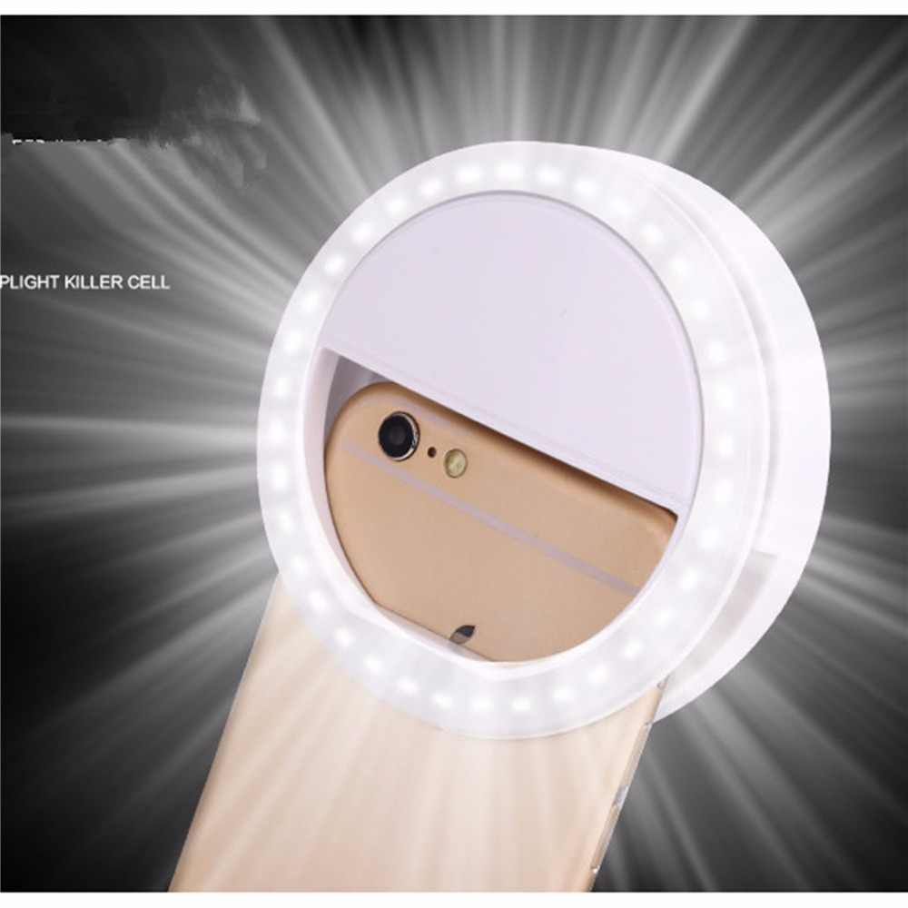 XIXI Makeup Mirror LED Mobile Phone light Artifact Pro Lady 36Pcs LED Beads Photography Light Beauty Tools For Photo fill light